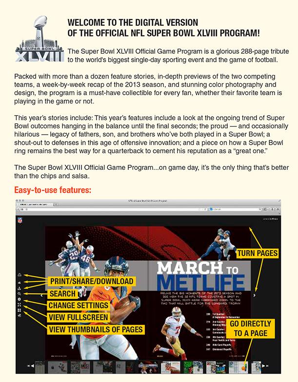 Official Super Bowl XLVII Game Program